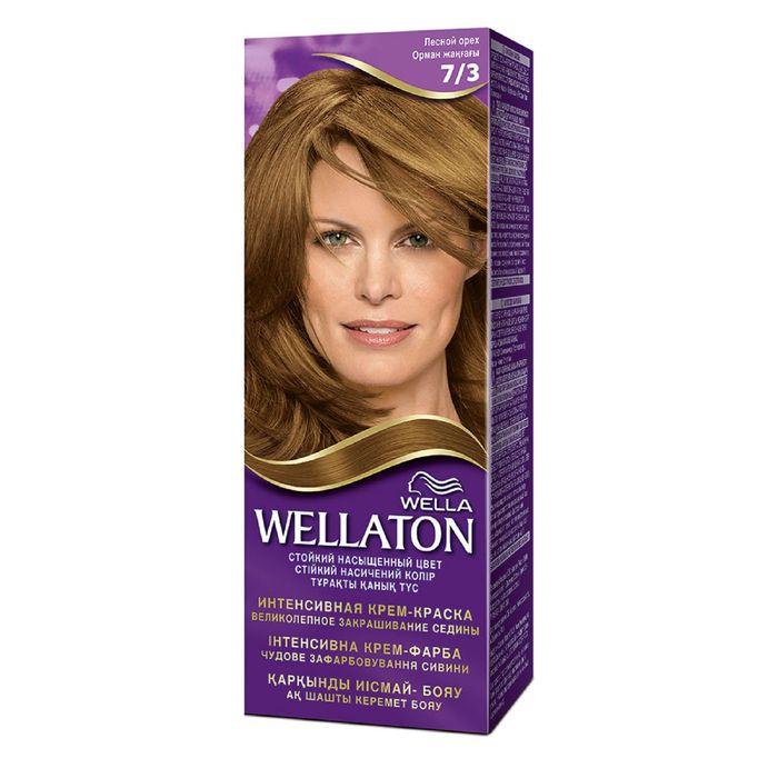 "Крем-краска Wellaton ""Лесной орех 7/3"", 60 мл"