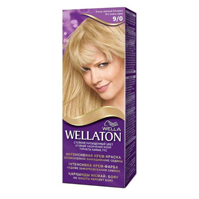 """Крем-краска Wellaton """"Очень светлый блондин 9/0"""", 60 мл"""