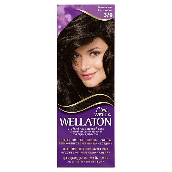 Крем-краска для волос Wellaton, 3/0 Темный шатен