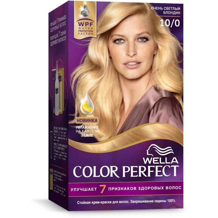 Стойкая крем-краска для волос Wella Color Perfect, 10/0 Очень светлый блондин
