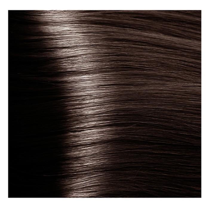 Крем-краска для волос Kapous с гиалуроновой кислотой, 5.81 Светлый коричневый, шоколадно-пепельный, 100 мл