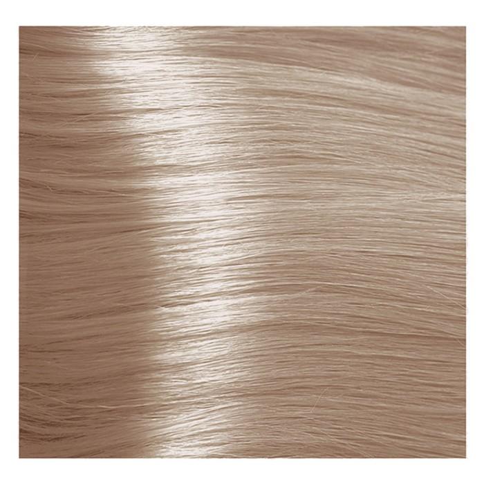 Крем-краска для волос Kapous с гиалуроновой кислотой, 9.085 Очень светлый блондин, пастельный розовый, 100 мл