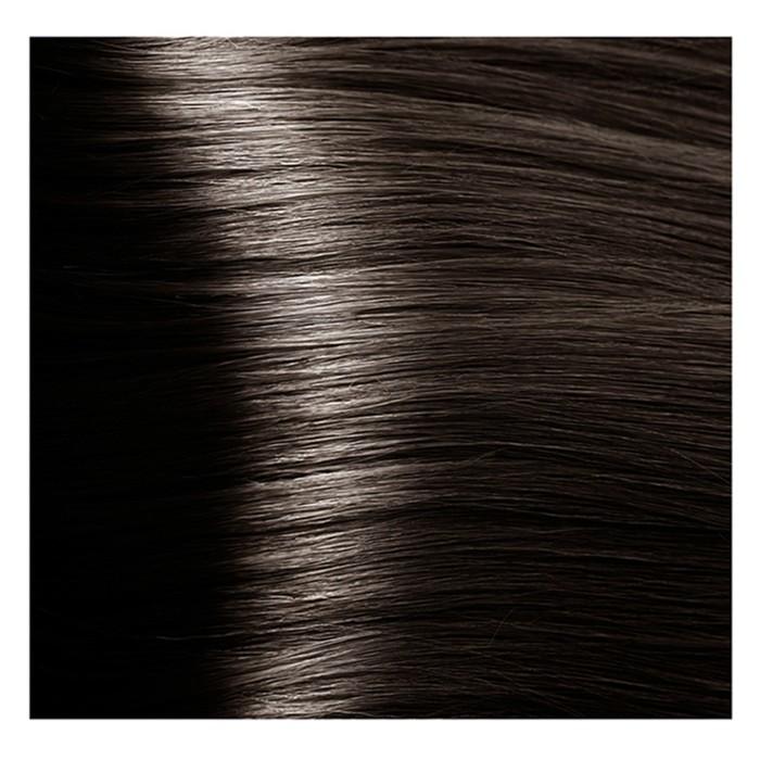 Крем-краска для волос Kapous с гиалуроновой кислотой, 5.07 Светлый коричневый, натуральный, холодный, 100 мл