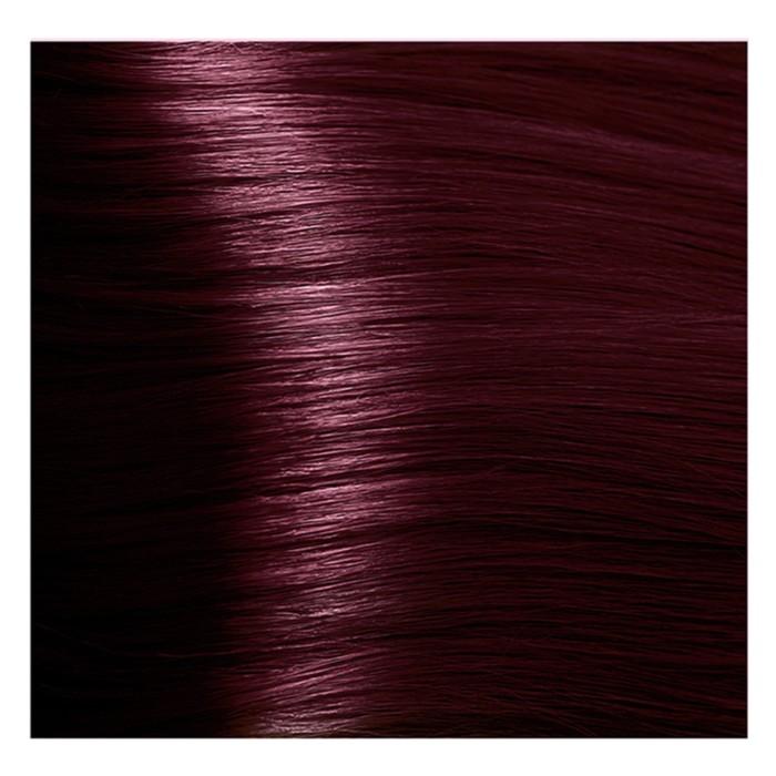 Крем-краска для волос Kapous с гиалуроновой кислотой, 5.66 Светлый коричневый, красный, интенсивный, 100 мл