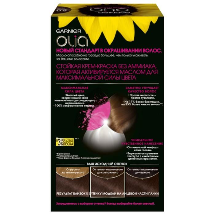 Краска для волос Garnier Olia, тон 5.0, светлый шатен