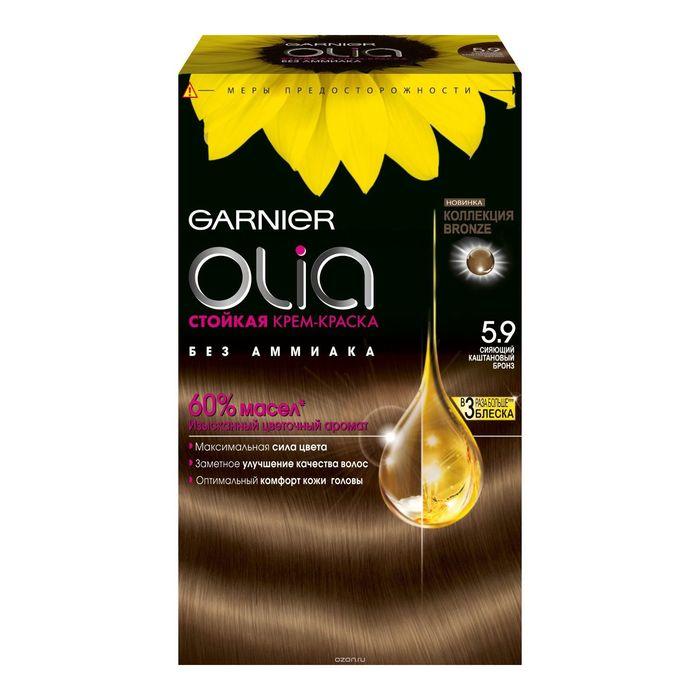 Краска для волос Garnier Olia, тон 5.9, бронз