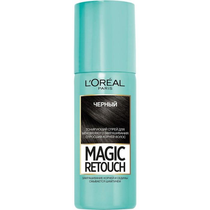 Тонирующий спрей L'Oreal Magic Retouch, оттенок чёрный, 75 мл