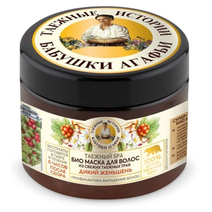 Маска для волос Рецепты Бабушки Агафьи «Дикий женьшень» профилактика выпадения, 300 мл