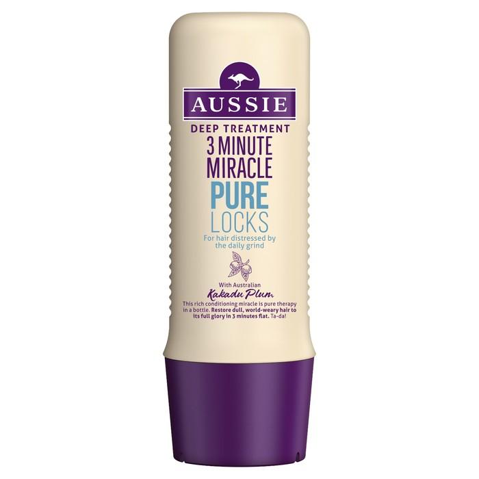 Средство интенсивного ухода Aussie 3 Minute Miracle Pure Locks, 250 мл