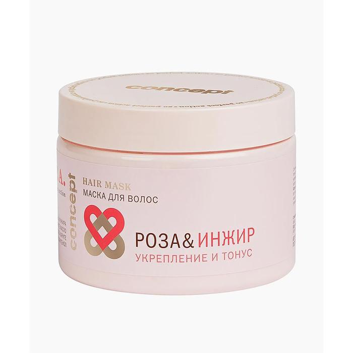 Маска для волос Concept «Роза & Инжир» укрепление и тонус,  350 мл