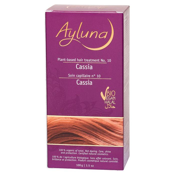 Порошок-маска для волос Ayluna, растительная, оттенок 10 Кассия, 100 г