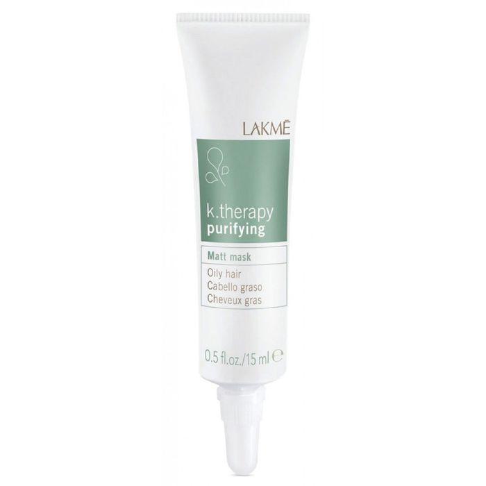 Маска для жирных волос с матирующим эффектом LAKME k.therapy purifying, 6 × 15 мл