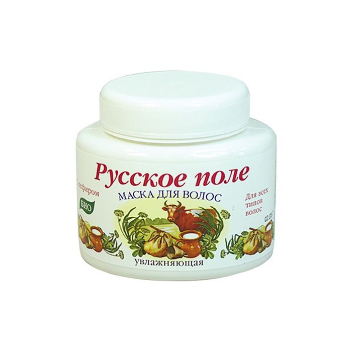 Маска для волос Русское поле, с кефиром, увлажняющая, 250 мл