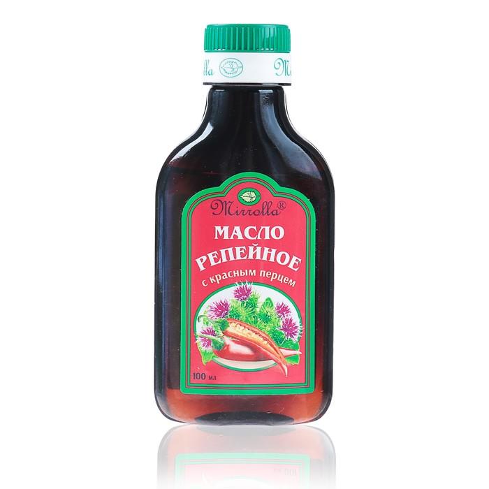 Репейное масло Mirrolla с красным перцем, 100мл