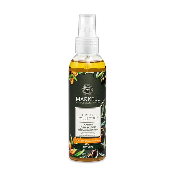 Восстанавливающие капли для волос Markell natural, Green collection, 100 мл