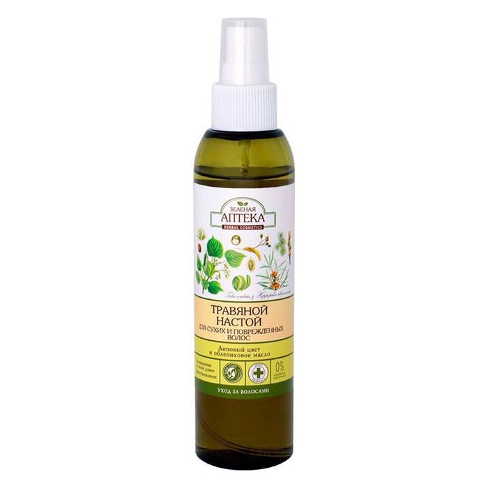 Травяной настой Зелёная Аптека, для сухих и повреждённых волос, 150 мл