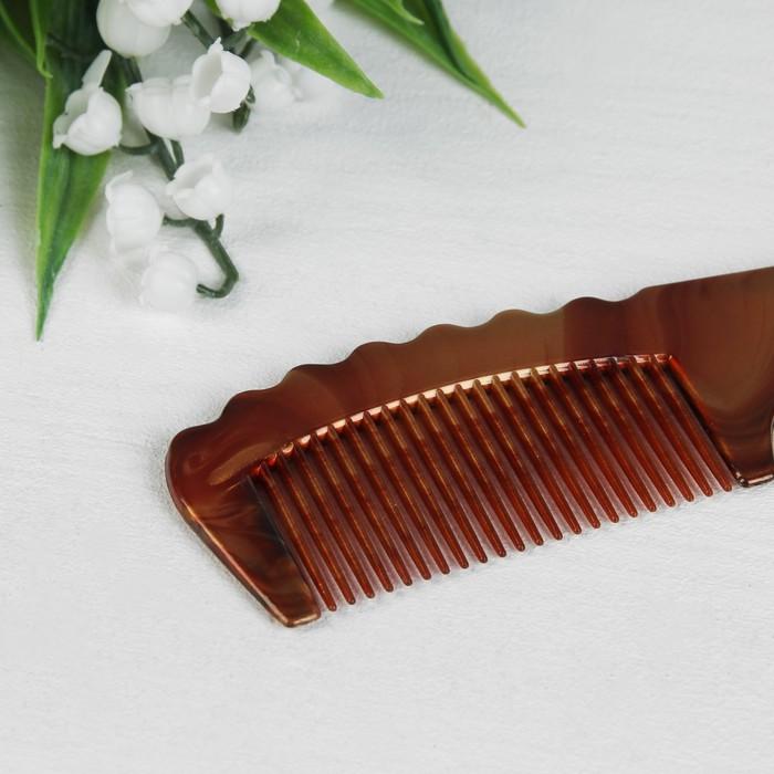 Набор парикмахерский, 2 предмета, цвет янтарный»