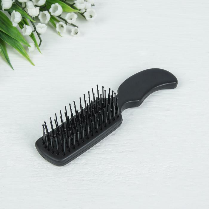Расчёска массажная, цвет чёрный