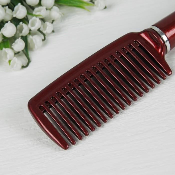 Расчёска, цвет бордовый