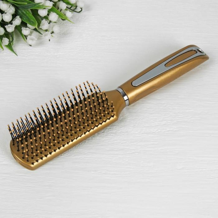 Расчёска массажная, цвет золотой