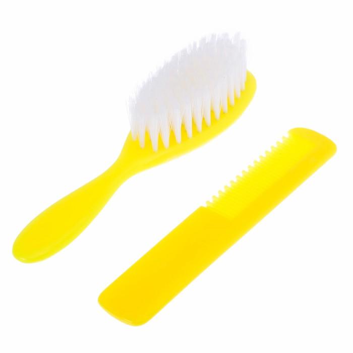 Расчёска детская + массажная щётка для волос «Любимый ребёнок», от 0 мес.