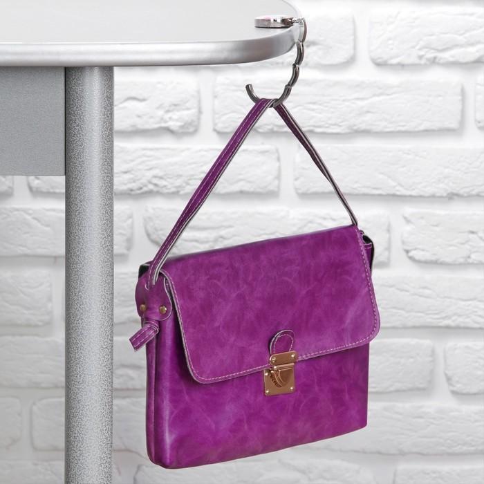 Подарочный набор «Ассорти», 2 предмета: расчёска, крючок для сумки, цвет МИКС
