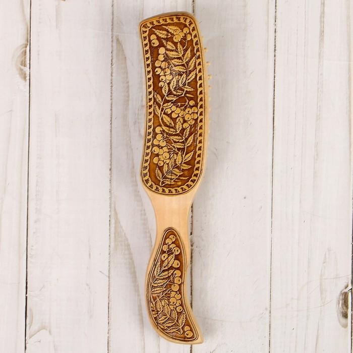 Массажка «Рябина», 4,5×21 см, береста