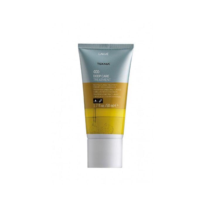 Интенсивное увлажняющие средство для сухих или повреждённых волос Lakme Teknia Deep Care, 50 мл