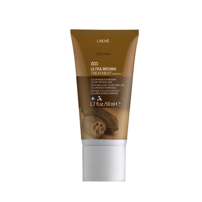 Средство, освежающее цвет коричневых оттенков волос Lakme Teknia Ultra Brown Treatment Refresh, 50 мл