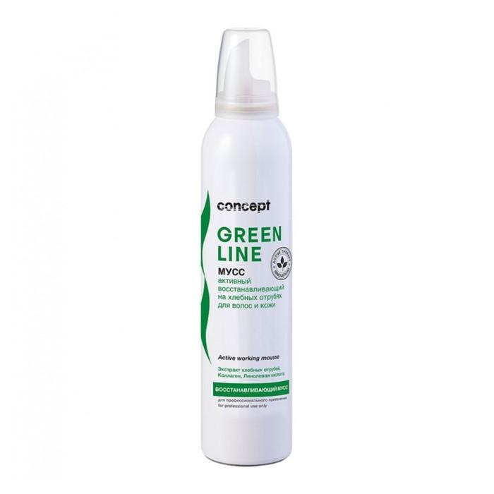 Активный восстанавливающий мусс на хлебных отрубях для волос и кожи Concept, 250 мл
