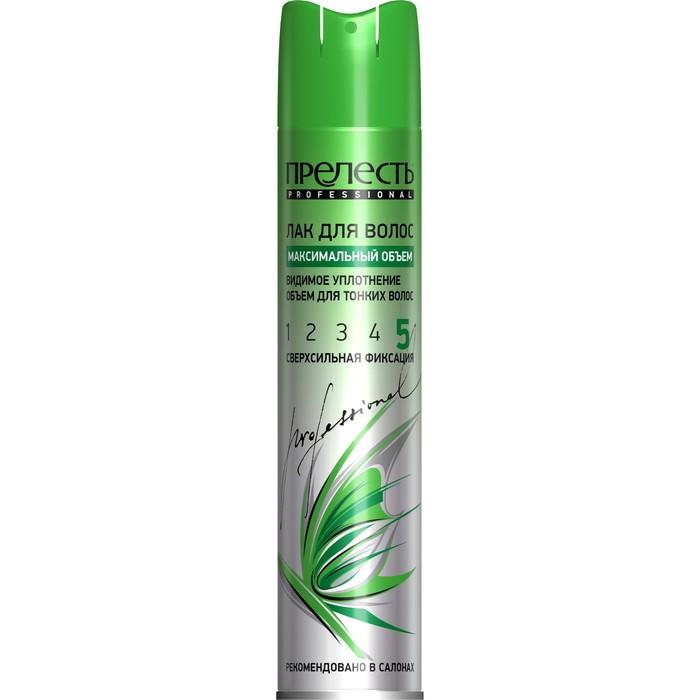 Лак для волос Прелесть Professional Максимальный объем, сверхсильной фиксации для тонких волос, 300