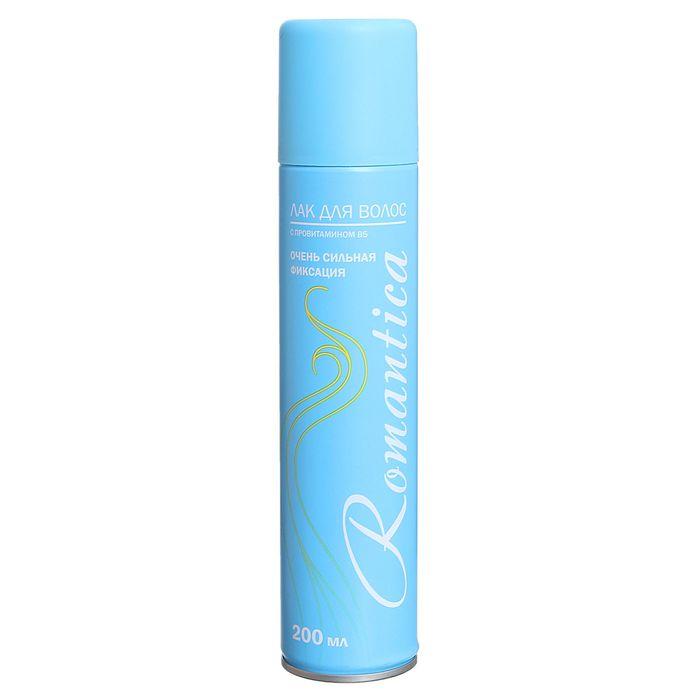 """Лак для волос """"Романтика"""" очень сильная фиксация с провитамином В5, 200 мл"""