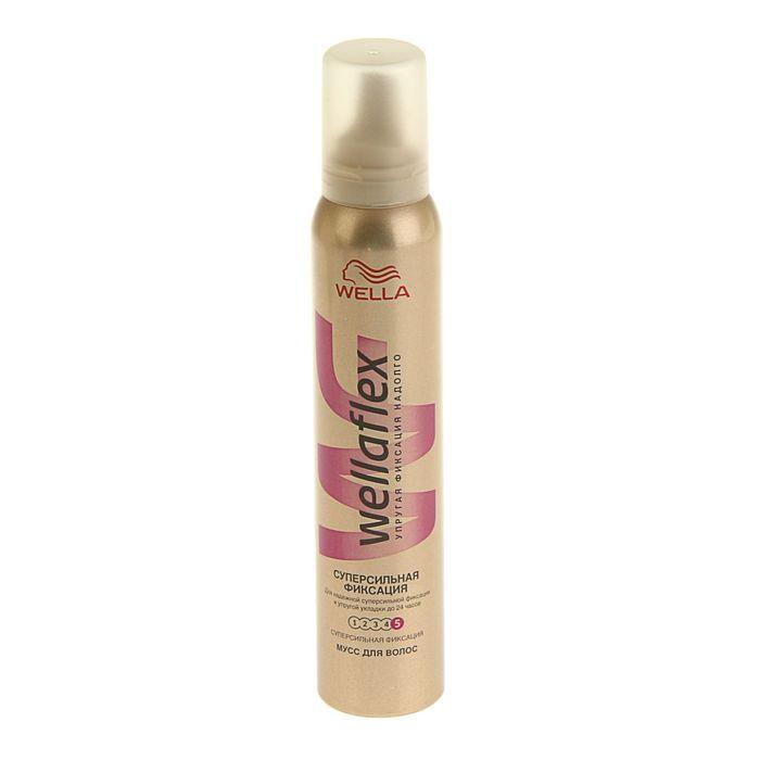 Мусс для волос WELLAFLEX супер-сильная фиксация, 200 мл