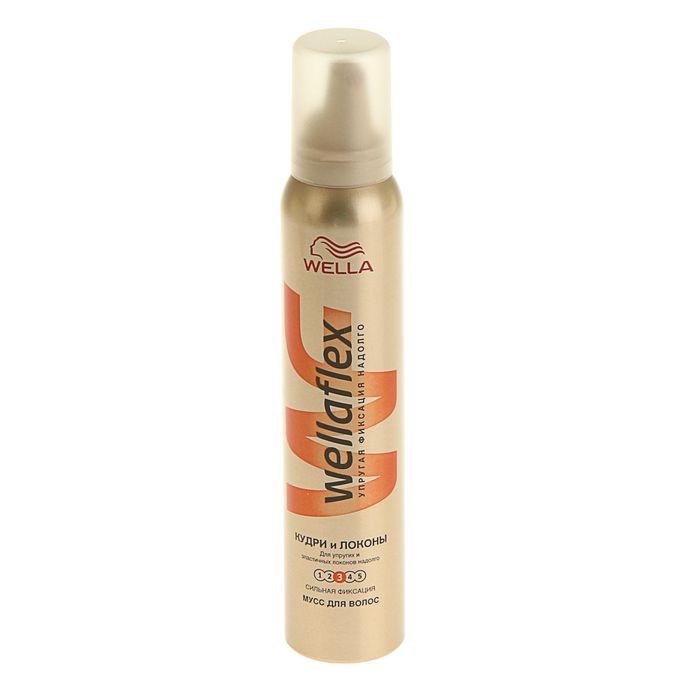 Мусс для волос WELLAFLEX Кудри и Локоны, сильная фиксация, 200 мл