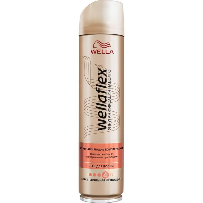 Лак для волос WELLAFLEX с увлажняющим комплексом, экстрасильная фиксация, 250 мл
