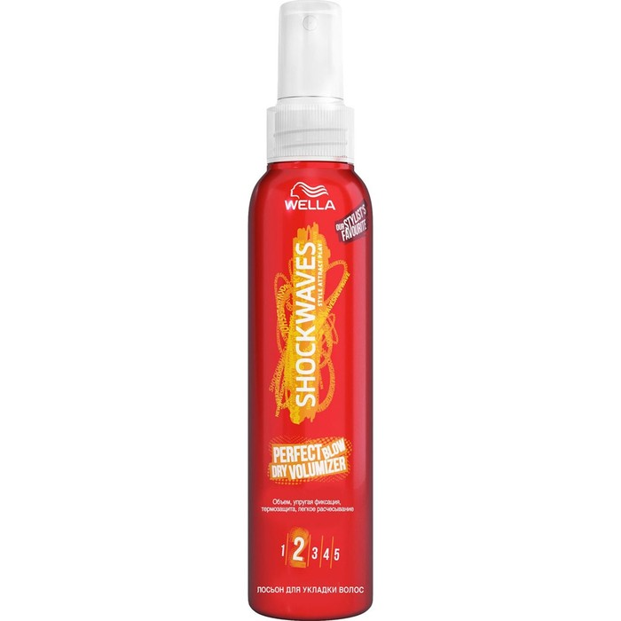 Лосьон для укладки волос Wella Shockwaves, объем и термозащита, 150 мл