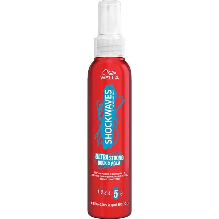 Гель-спрей для волос Wella Shockwaves, легкая укладка 24 ч, 150 мл