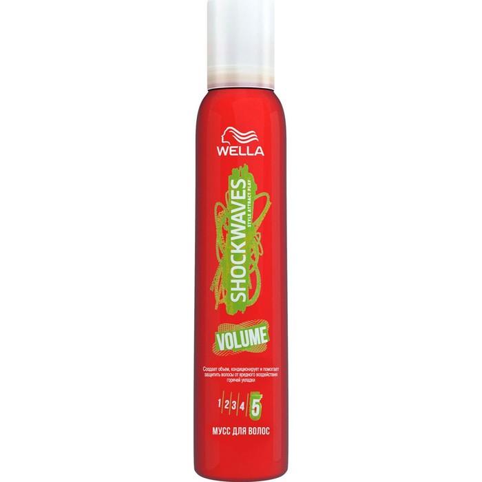 Мусс для волос Wella Shockwaves, длительный объем, 200 мл
