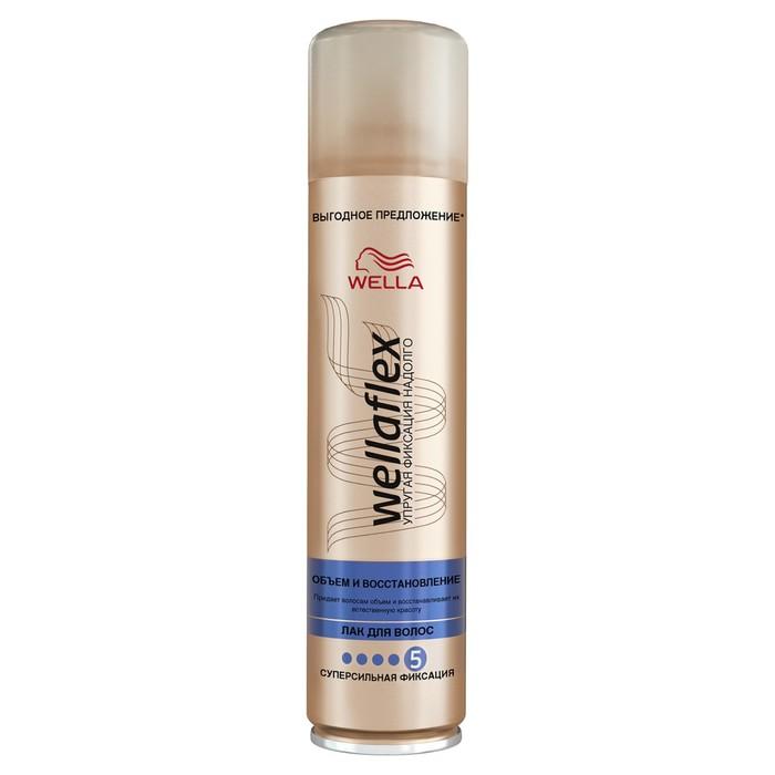 Лак для волос Wellaflex, объем и восстановление, суперсильной фиксации, 400 мл