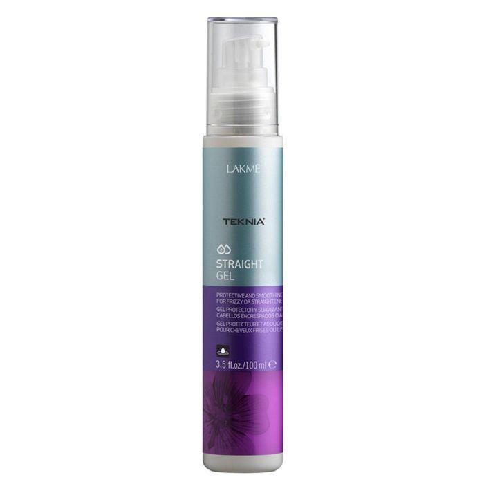 Гель для гладкости вьющихся, объёмных волос или волос с нарушенной структурой Lakme Teknia Straight gel, 100 мл