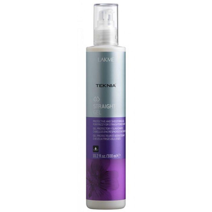 Гель для гладкости вьющихся, объёмных волос или волос с нарушенной структурой Lakme Teknia Straight gel, 300 мл