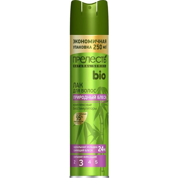Лак для волос Прелесть Био с комплексными биостимулирами, сильная фиксация, 250 мл