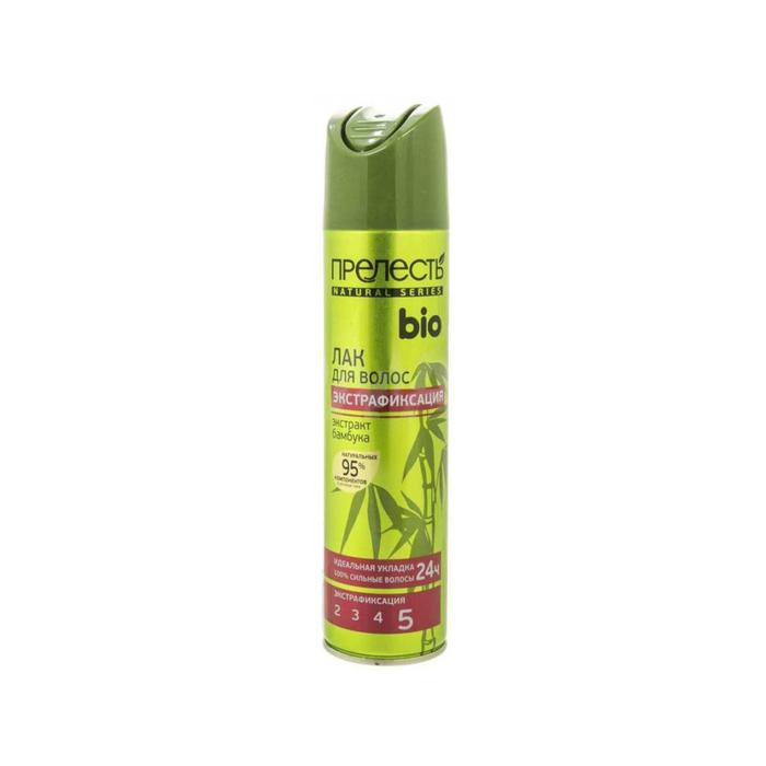 Лак для волос Прелесть Био с экстрактом бамбука, экстрафиксация, 250 мл