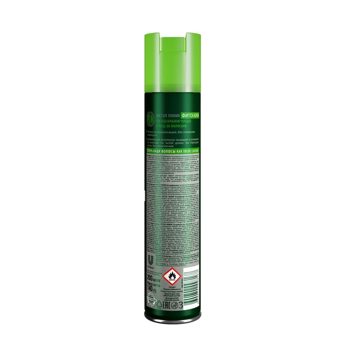 Лак для укладки волос Чистая линия,  экстрафиксация, 200 мл