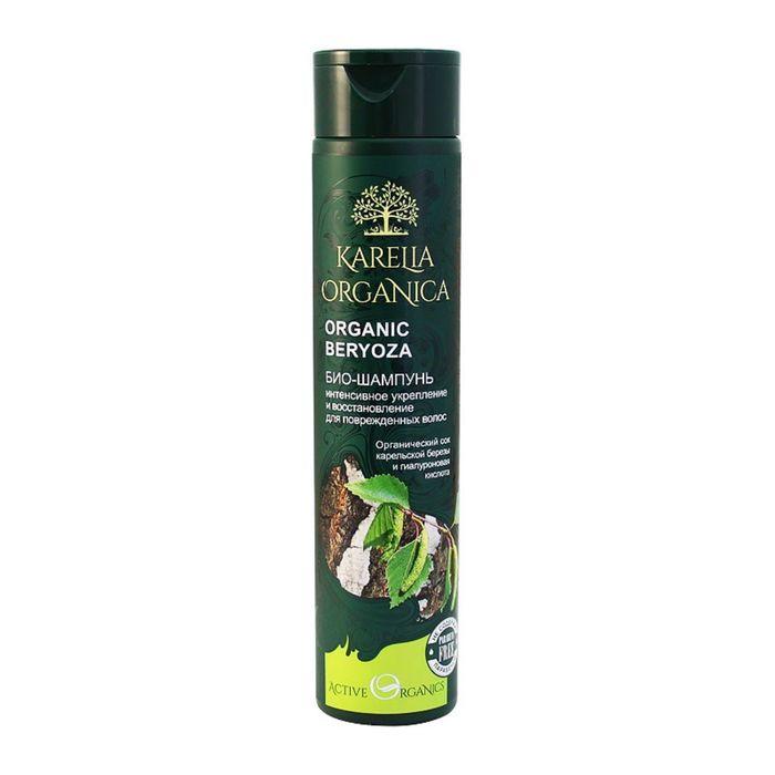 Био-шампунь Karelia Organica BERYOZA «Интенсивное укрепление и восстановление», для повреждённых волос, 310 мл