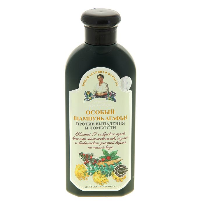 Шампунь Рецепты бабушки Агафьи «Особый», против выпадения волос, 350 мл