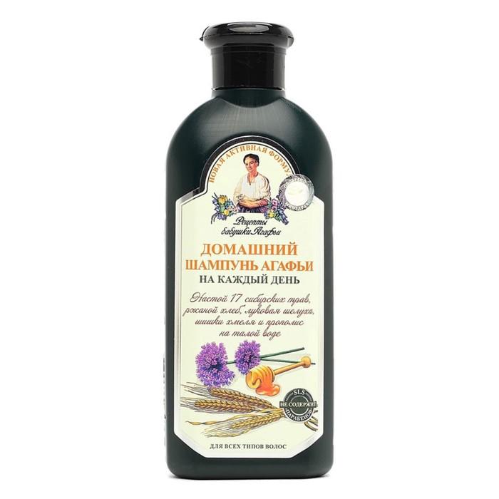 Шампунь для волос Рецепты Бабушки Агафьи «Домашний», настой 17 сибирских трав, 350 мл
