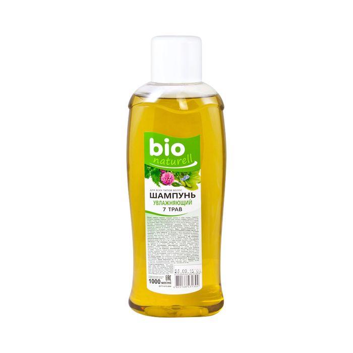 Шампунь для волос Bio Naturell, увлажняющий, 7 трав, 1000 мл