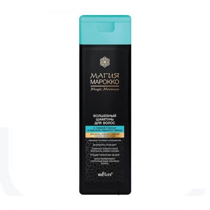 Волшебный шампунь для волос BIELITA Магия Марокко, с маслом чёрного тмина, для волос смешанного типа, 370 мл