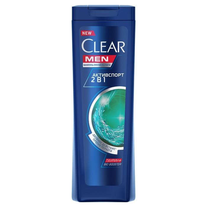Шампунь и бальзам для волос Clear Men 2 в 1 «Активспорт», 200 мл